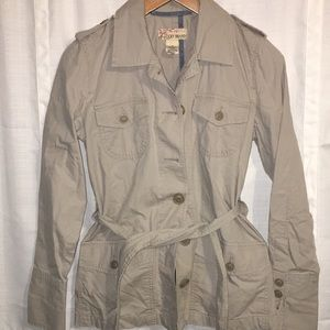 Lucky Brand light jacket size small tan with belt